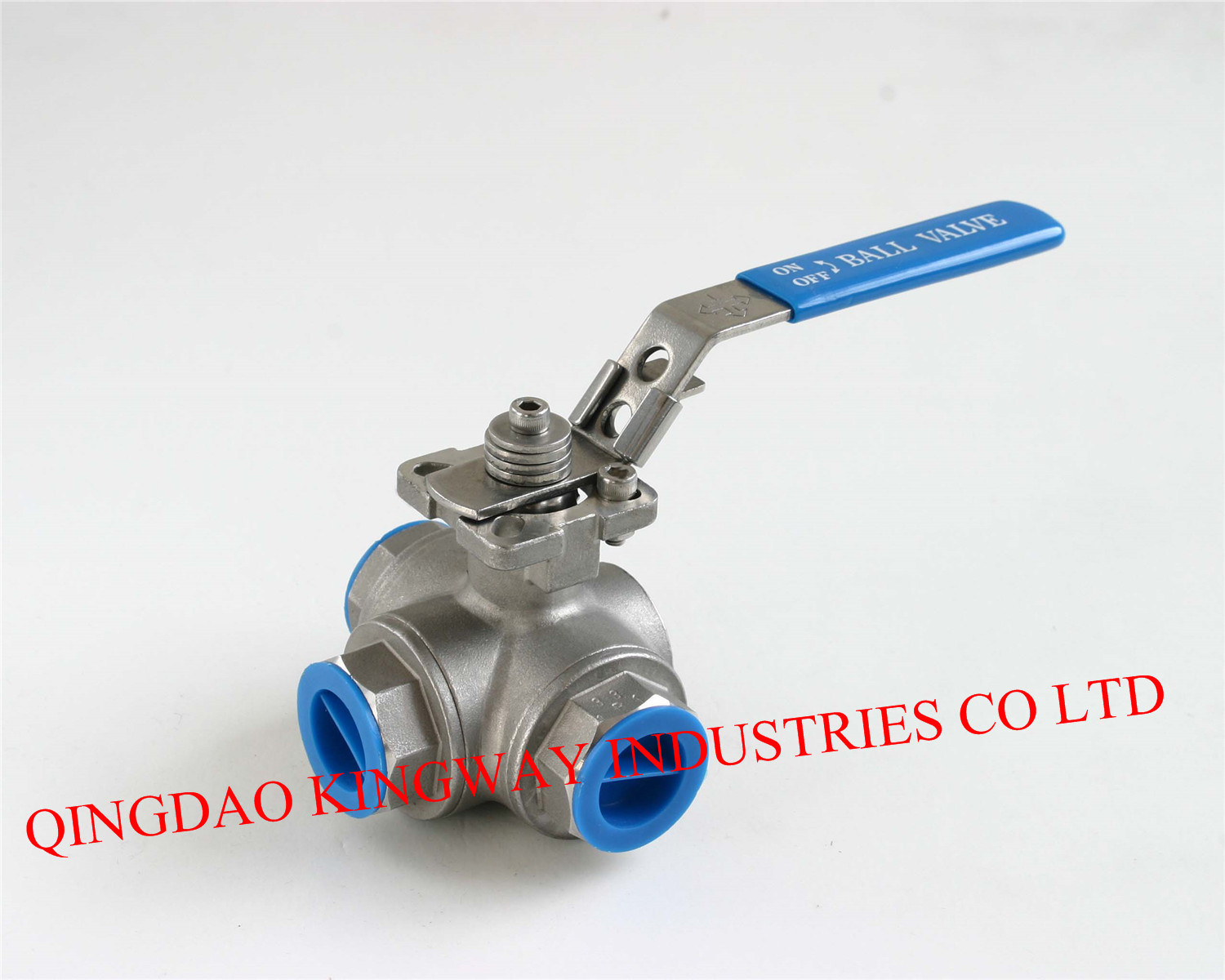 Three-Way Ball Valve with Mounting Pad ISO5211