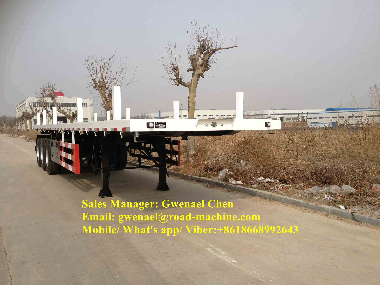Tri-Axletimber Transport Wagon Wood Lumber Log Loading Trailer with Side Panels Detachable
