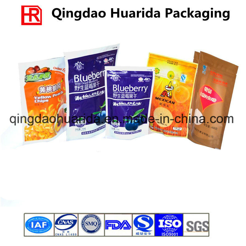Logo Printed Stand up Plastic Food Packaging Bag for Powder