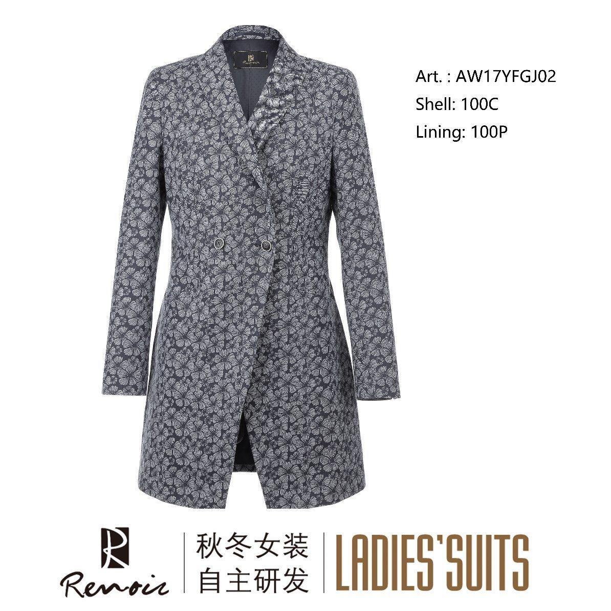 OEM 100c Peak Lapel Women′s Overcoat