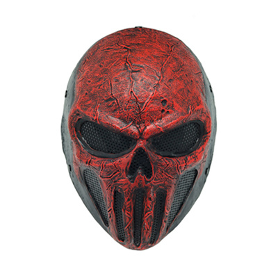 """Wire Mesh """"Skull Punisner"""" Red Party Mask (WS20933)"""