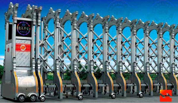 Hot Sale Industrial Aluminum Alloyed Electric Telescopic Gate