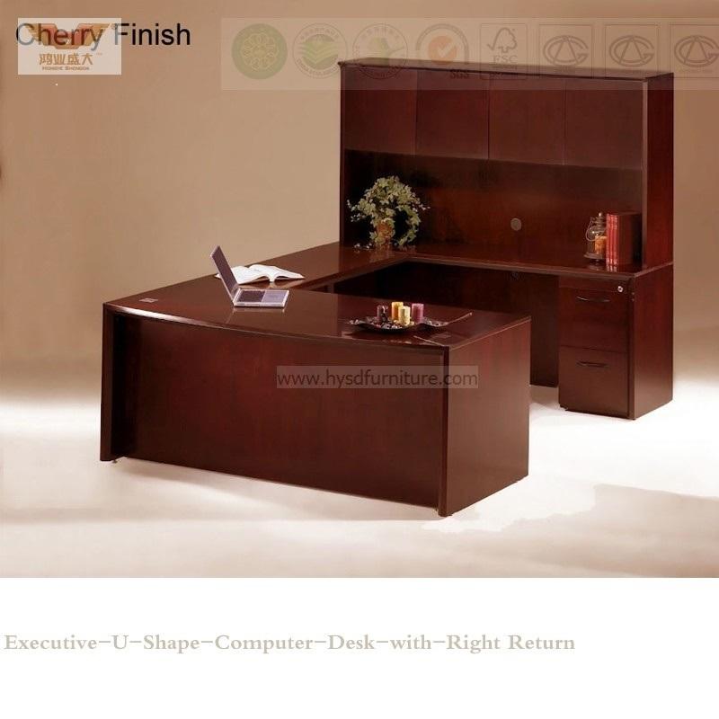 Fsc Certified E1 Venner MDF Modern Executive Desk for Office Furniture