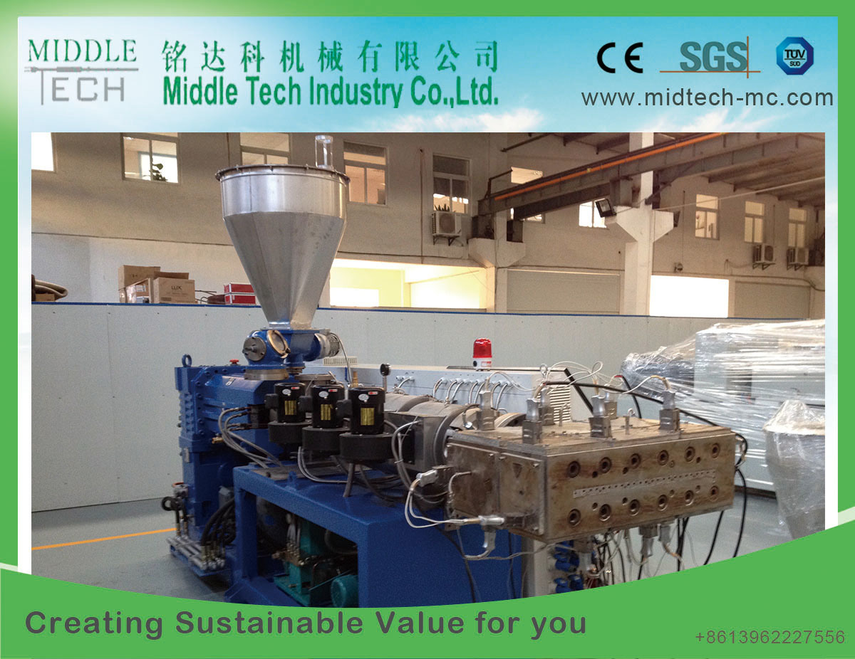Plastic Wood (WPC) PVC-PE Window Profile/Ceiling Board/Edge Banding/Door Panel/ Pipe Production Extrusion Machine