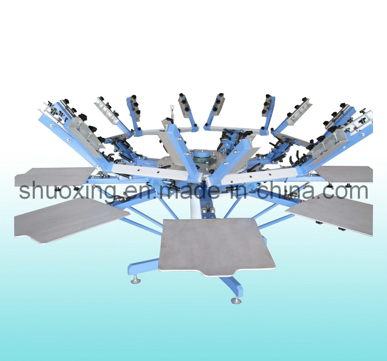 China Manual Textile Screen Printing Press With Micro