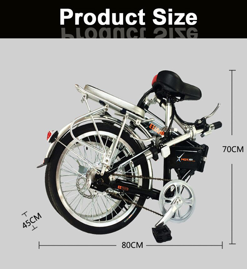 Smartek 16-Inch Mini Folding Electric Bicycle Patinete Electrico X-3