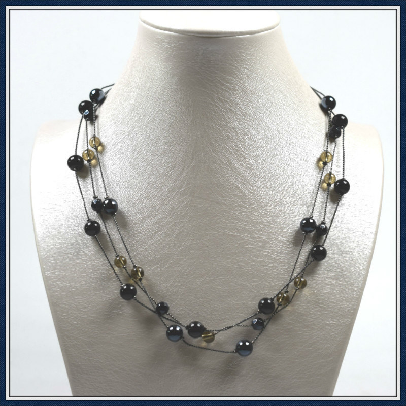 New Item Design Glass Beads Elegant Fashion Necklace Jewellery