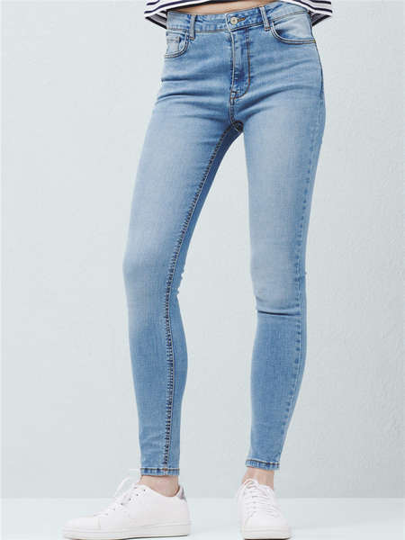 High Waist Slim Fit Jeans for Women