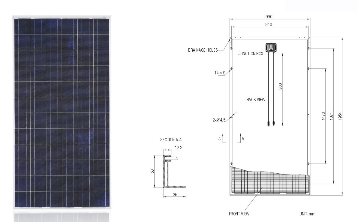 300W Solar System PV Panel Solar Panel with TUV IEC Mcs CE Cec Inmetro Idcol Soncap Certificate