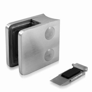 Square Glass Clamps 55X55 Stainless Steel Satin Finish