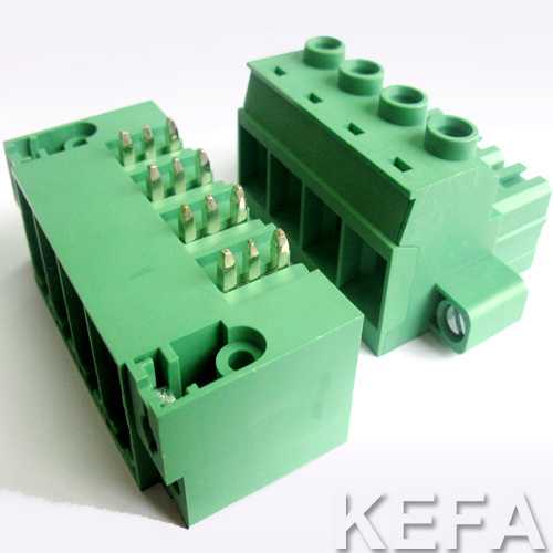 UL Approved Pluggable Terminal Block with Gold Plated Pin Header