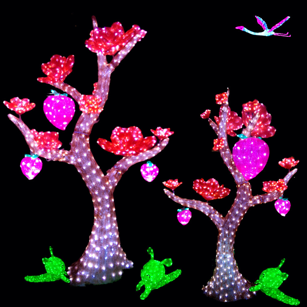 outdoor waterproof d sculpture acrylic led flower tree outdoor waterproof 3d sculpture acrylic led flower tree light for holiday party decoration ce rohs tuv sgs certificates bw sc 288