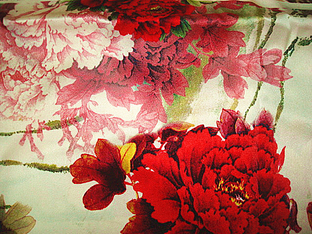 Printing Organza Silk Satin Fabric