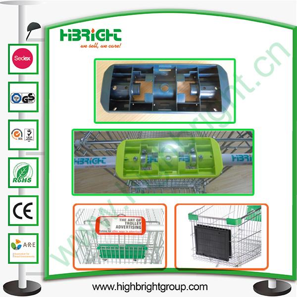Plastic Handle Display Board for Super Market Trolley