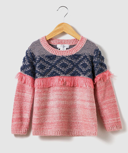 Kid′s Sweater Texture Knitted Jumper for Girls