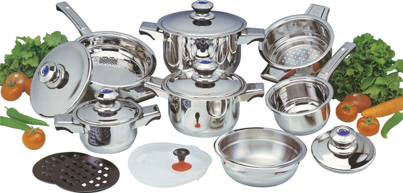 High Qualtiy 16PCS Stainless Steel Cookware Set (CS116004)