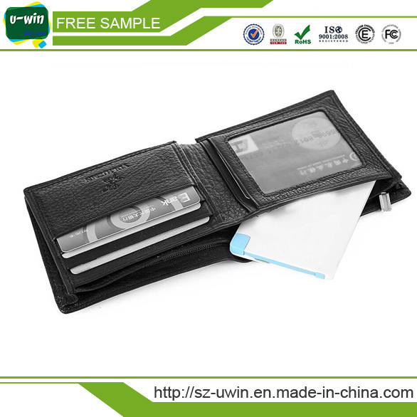 Free Sample&Logo Built-in Cable Credit Card Power Bank