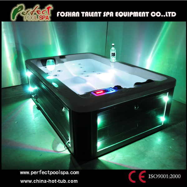 China Multi Color Led Lihgting System Whirlpool Couple Spa
