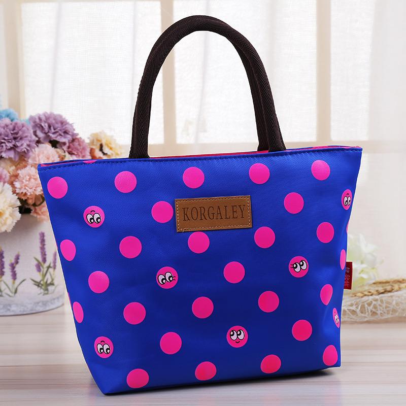 Korean Style New Ladies Handbag Dotted Lace Bag Zipper Shoulder Bag