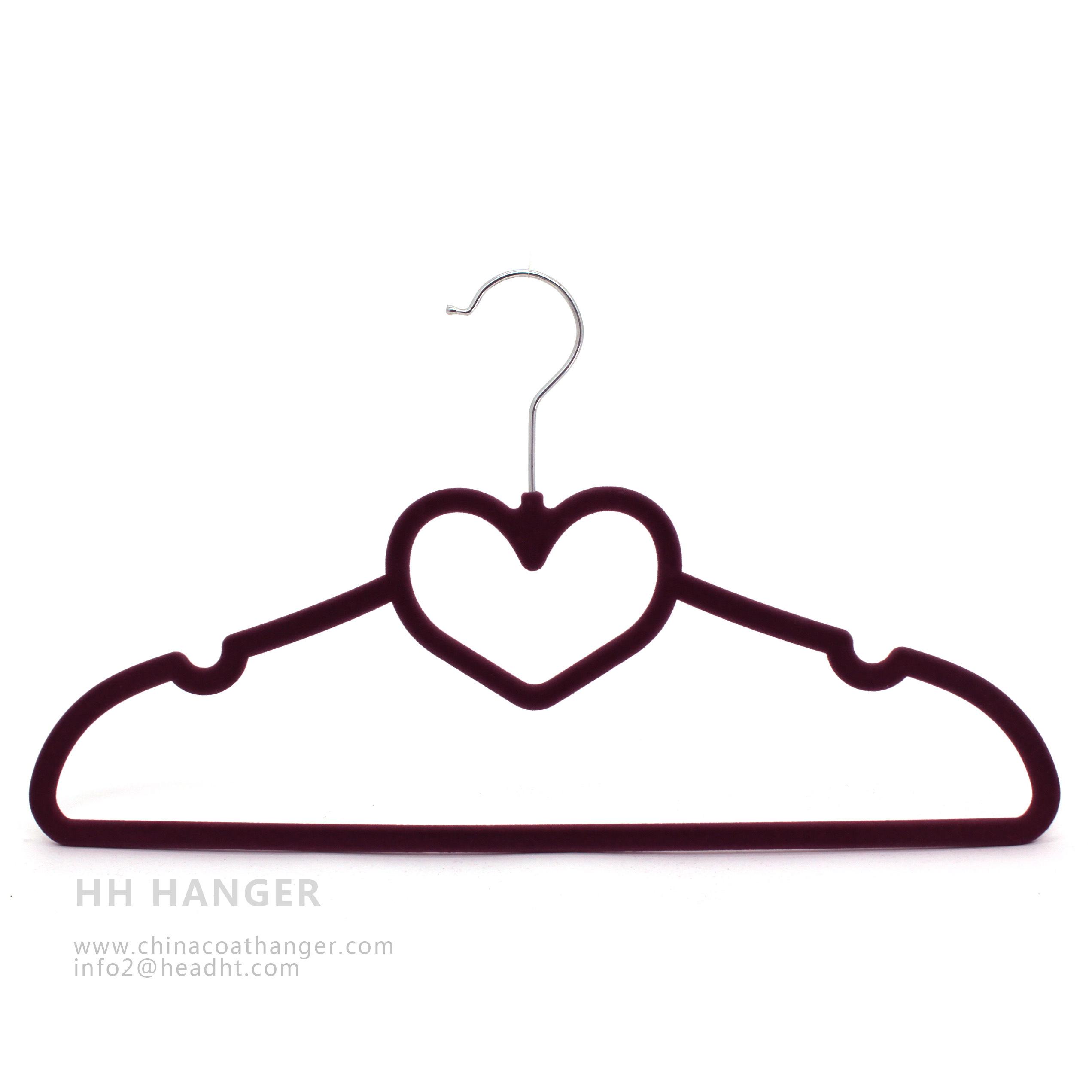 Multifunction Velvet Flocking Shirt Hanger for Scarf Hanging, Velvet Hanger