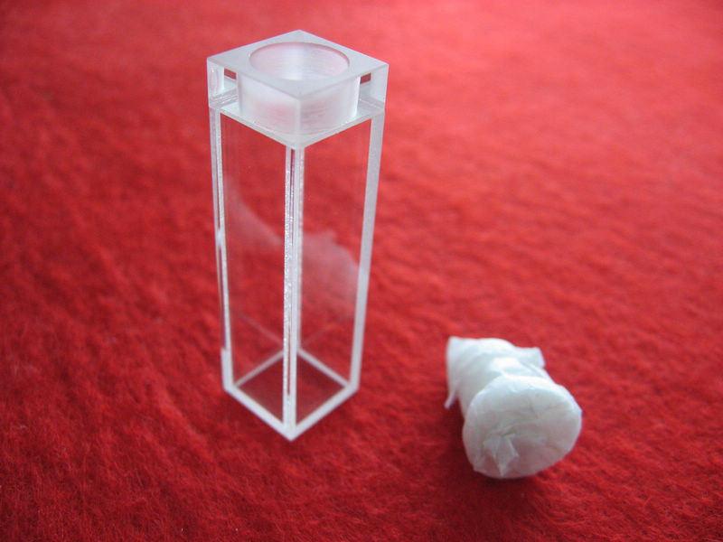 Standard Quartz Cuvette Quartz Cell with Lid