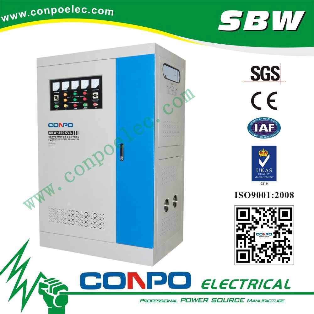 SBW-250kVA Full-Auotmatic Compensated Voltage Stabilizer/Regulator