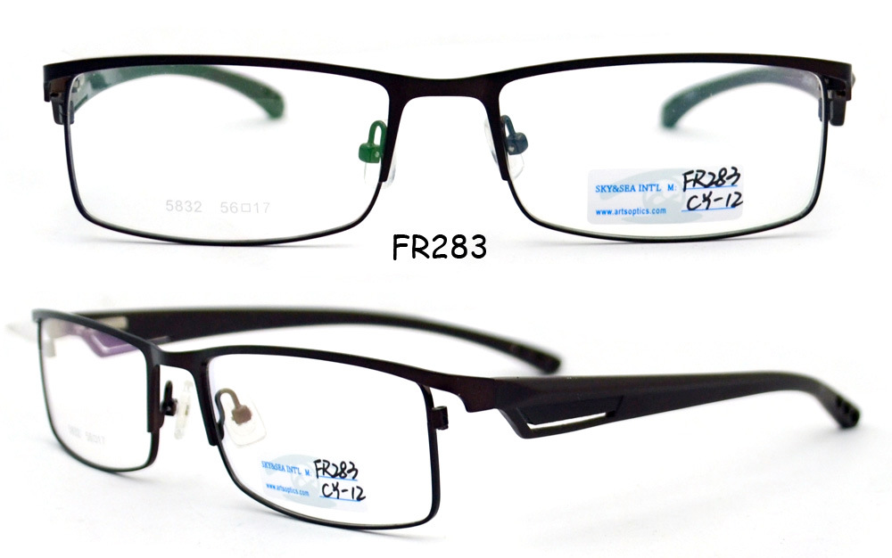 china see eyewear frame optical eyewear half frame glasses