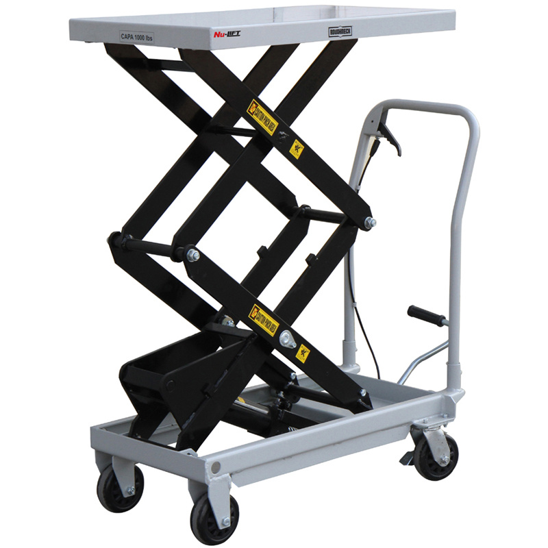 Manual Hydraulic Lift : China mobile manual hydraulic scissor lift table trolley