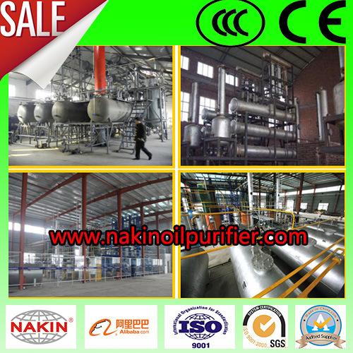China Oil Distillation Technology Waste Engine Oil Regeneration Machine