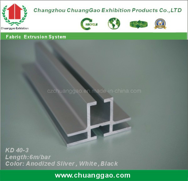 Kd 40-3 Double Sided Fabric Frameless Aluminium Extrusion