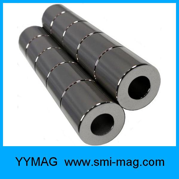 Neodymium Black Epoxy Coating Ring Circle Magnet