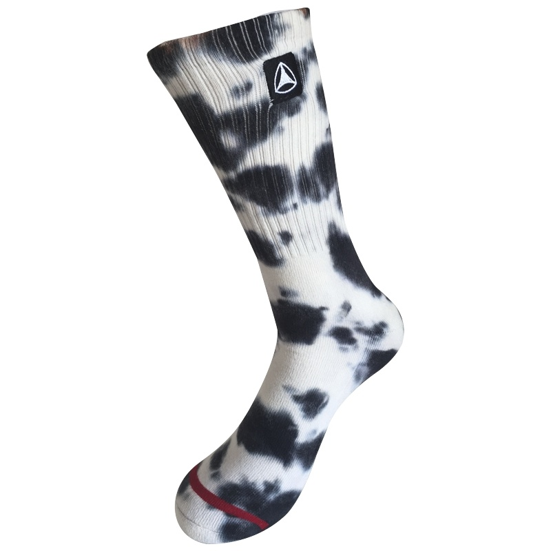 Half Cushion Cotton Fashion Logo Sport Tie Dye Socks (JMCC10)