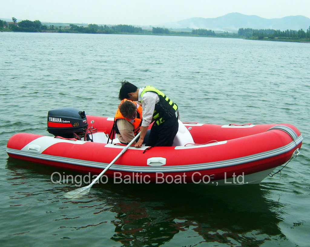 China Fiberglass Rib Boat Dinghy with Center Console