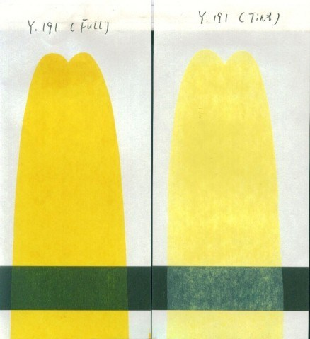 Reddish Pigment Yellow 191 for Plastic