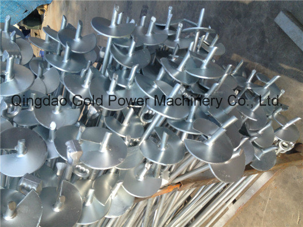 Forged Helical Earth Screw Anchor Pole