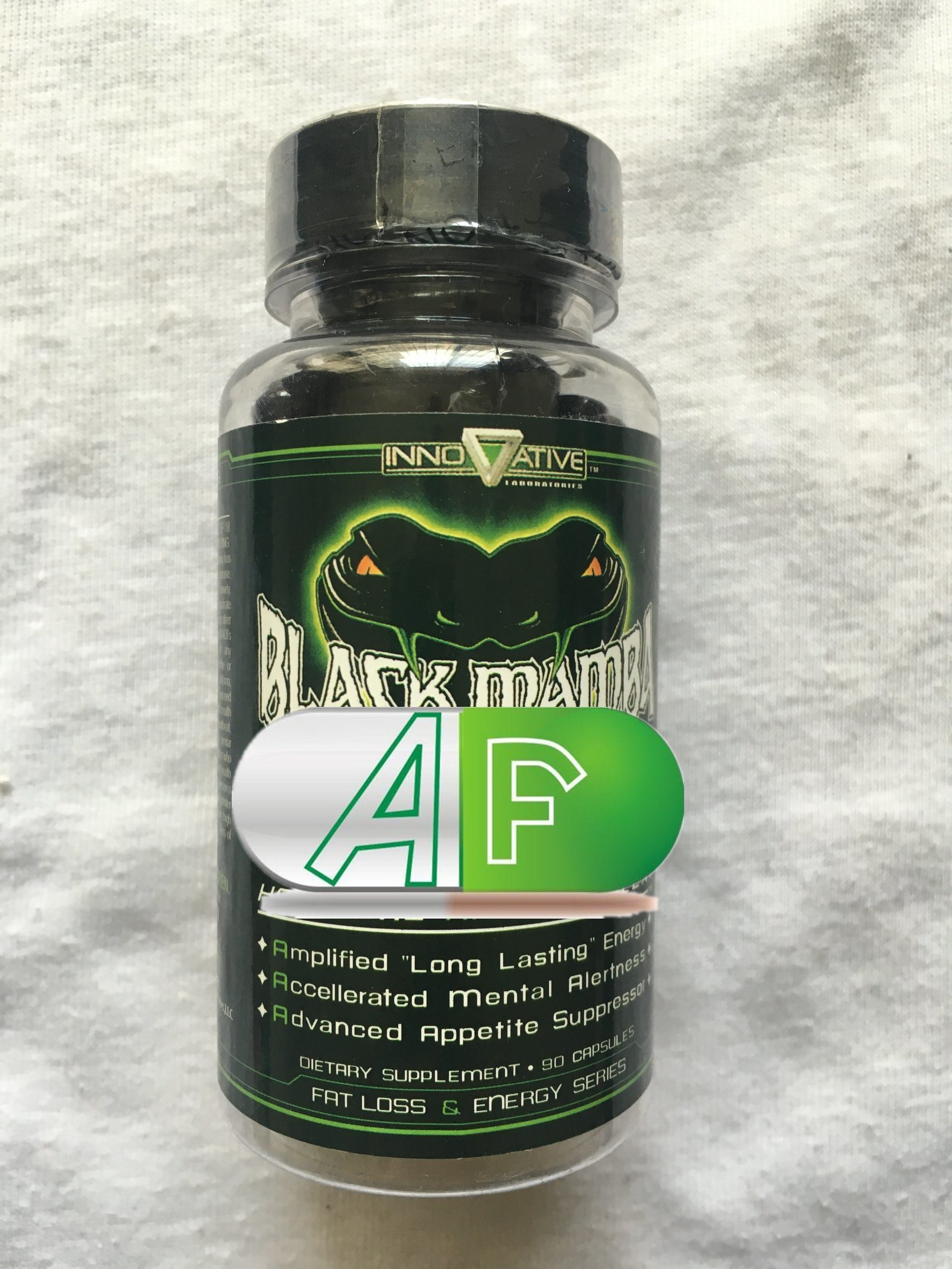 Black Mamba Hyperrush Fat Burner Slimming Capsule, 90 Capsules