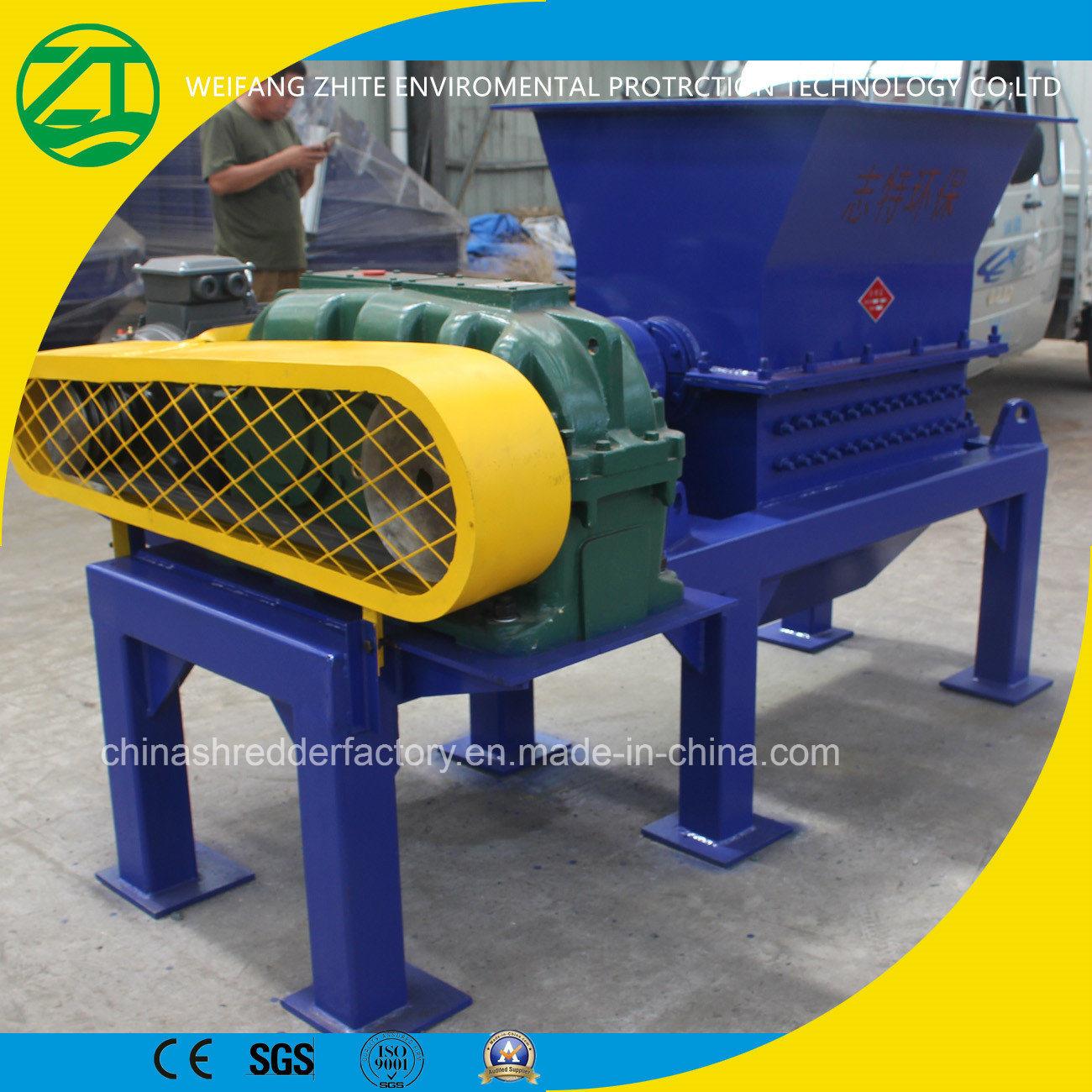 Single Shaft Shredder for Animal Carcasses Kitchen Waste/Municipal Solid Waste/Wood/Tire