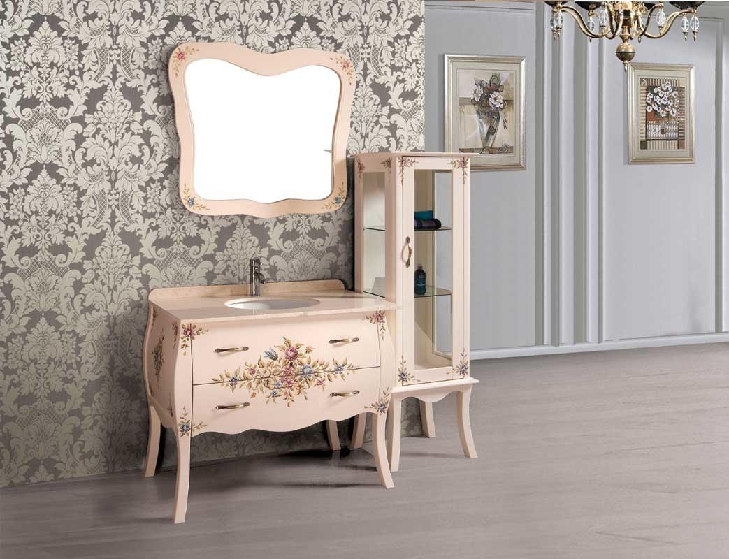 new design solid wood bathroom cabinet bathroom vanity yl