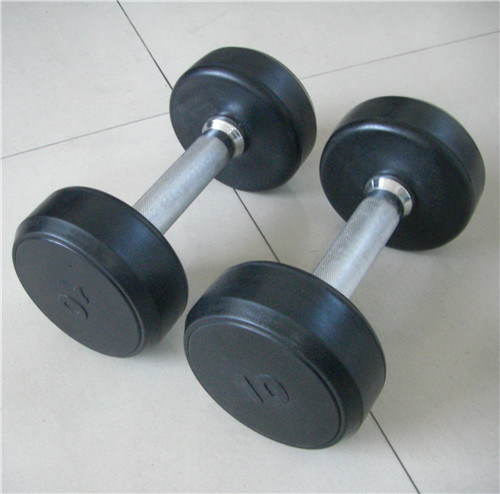 Fitness Equipment Accessories Rubber Dumbbell