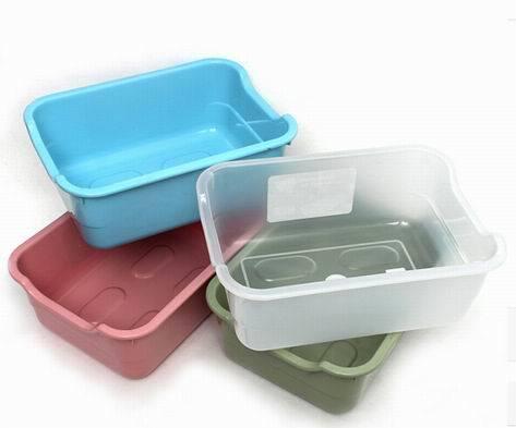 Square Drain Basin/Storage Box for Kitchen Use