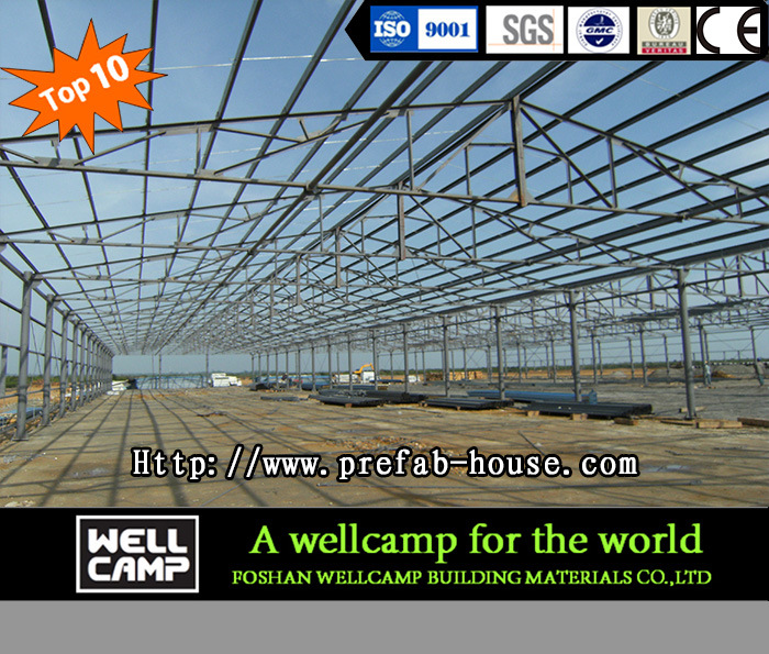 Color Steel Sheet Steel Structure Warehouse for Sale