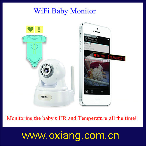 WiFi IP Camera / Baby Monitor with Heart Rate and Temperature Sensor