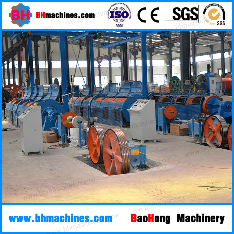 Tubular Steel Wire Ropes Stranding Machine for 6 * 19