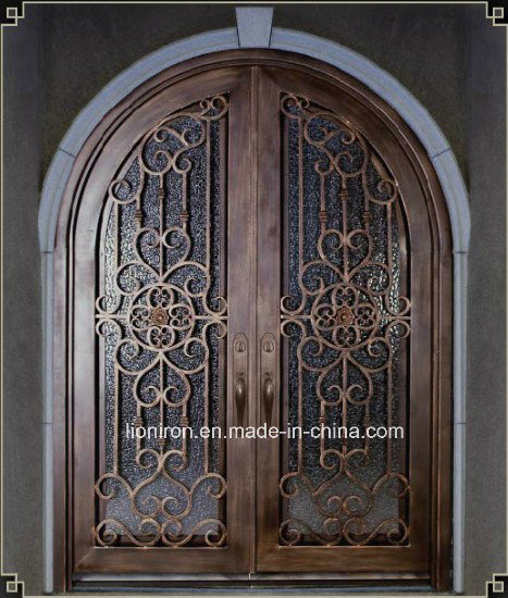 Gorgeous Home Used Wrought Iron Security Doors Exterior Position