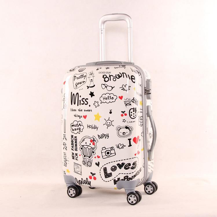 ABS+PC Printed Hard Shell Love Designer Luggage