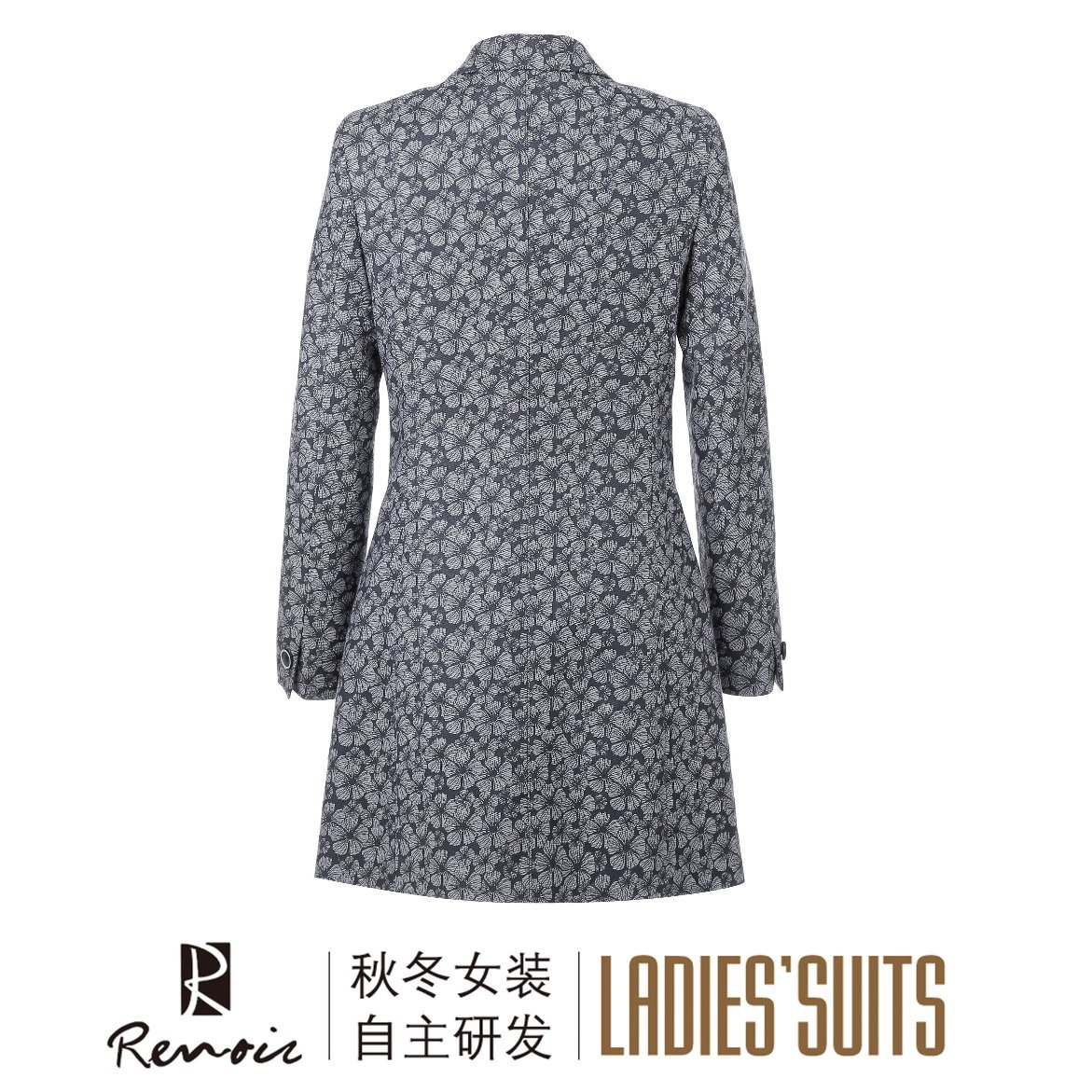 OEM 100c Peak Lapel Women′s Overcoat