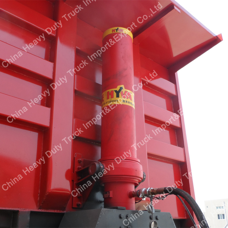 Factory Sale 90mm King Pin 45m3 Cargo Box Dump Semi-Trailer