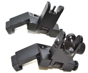 Hot Sale Ar15 Front and Rear Flip up 45 Degree Rapid Transition Backup Iron Sight
