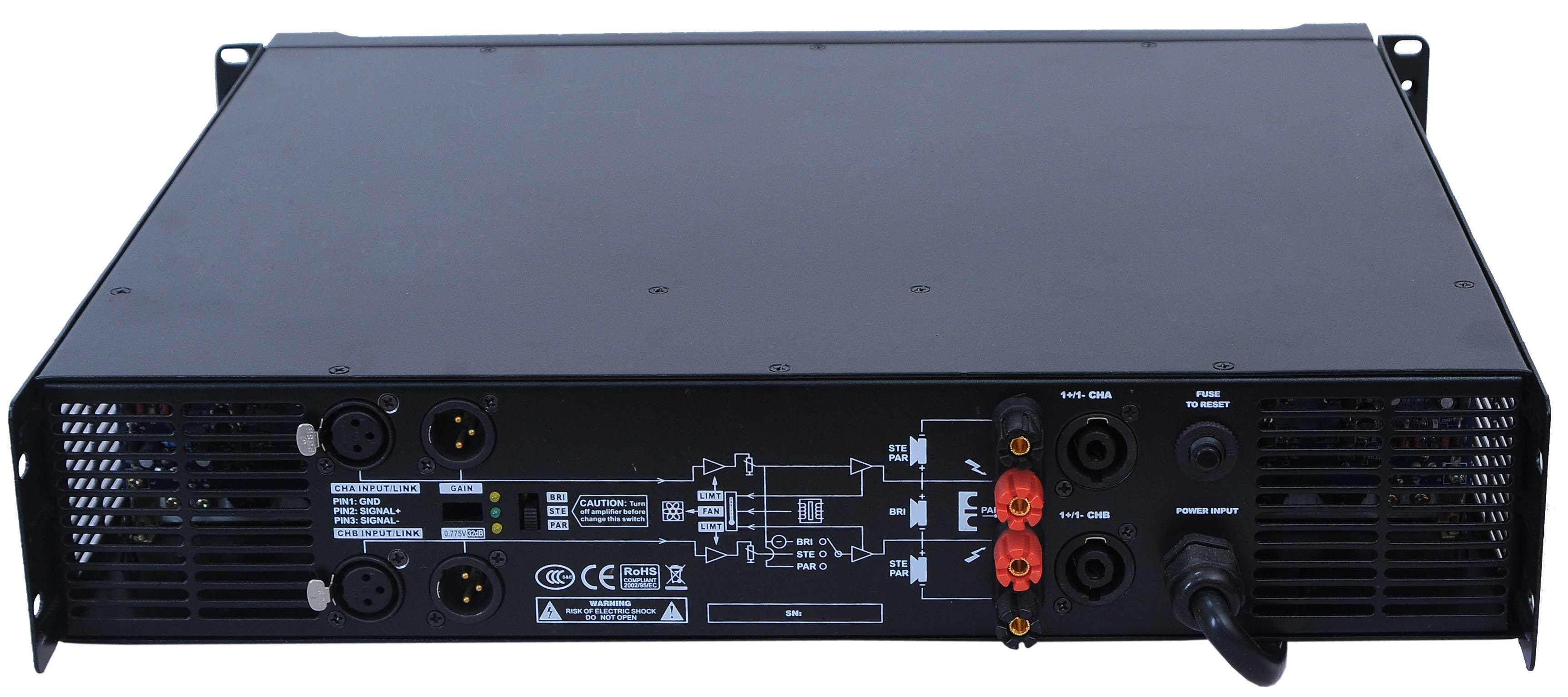 Ca Series, 2 Channels Professional Power Amplifier 2u Standard Cabinet