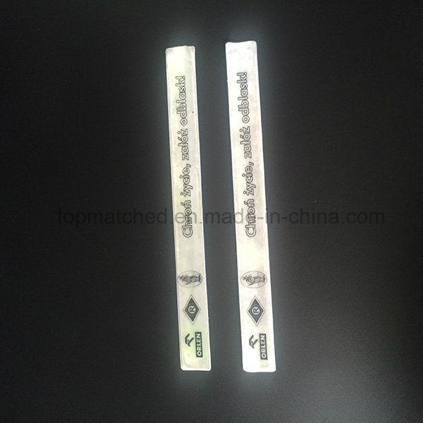 Free Sample 3m En13356 Reflective Armband Reflective Slap Band Bracelet